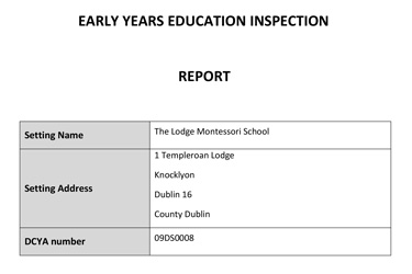 Dept-Of-Education-Inspection-Report